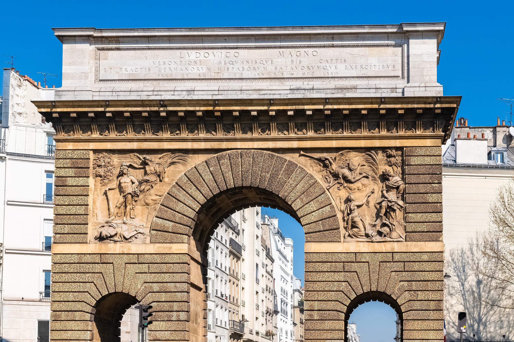 Porte st martin paris triumphal arches pinterest for Porte saint martin